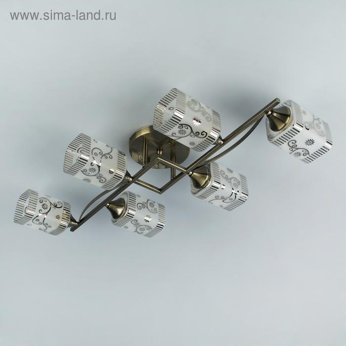 """Люстра """"Мираж"""" 6 ламп E27 60W 42х65х16 см."""
