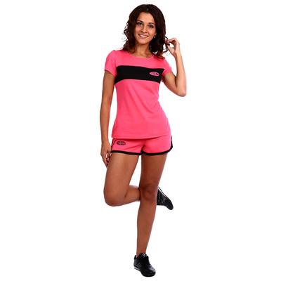 Костюм женский (футболка, шорты) Доминика цвет розовый, р-р 50