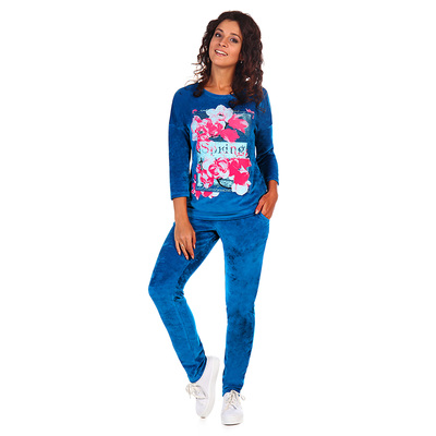 Комплект женский (джемпер, брюки) Лекси цвет василек, р-р 50
