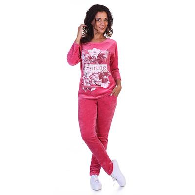 Комплект женский (джемпер, брюки) Лекси цвет брусника, р-р 52