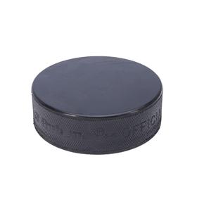RUBENA ice hockey puck, rubber, ø 75 mm, height 25 mm, colour black