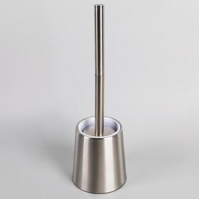 Ёрш для унитаза с подставкой Accoona, 12×12×38,5 см, нержавеющая сталь