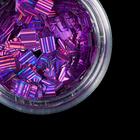 Камифубуки для декора ногтей, лазерные, цвет сиреневый