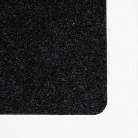 Коврик придверный влаговпитывающий «Лофт», 60×90 см, цвет чёрный