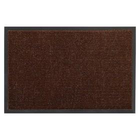 Коврик придверный, влаговпитывающий, ребристый 'Комфорт', цвет коричневый Ош