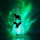 """УЦЕНКА Игрушка световая """"Ёлочка снеговик"""" (батарейки в комплекте) 18,5 см, 1 LED, RGB,"""