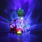 """Игрушка световая """"Дед мороз с елочкой"""" (батарейки в комплекте) 1 LED, RGB УЦЕНКА"""