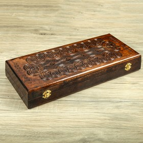 Нарды деревянные, резные, 45 х 20 см, микс Ош