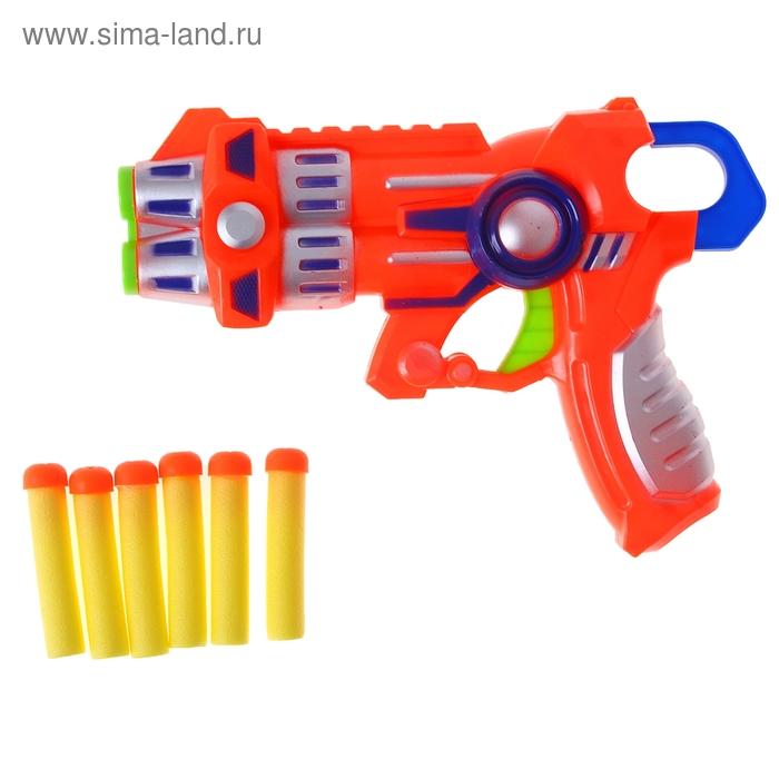 """Пистолет """"Бластер"""" с мягкими пулями, цвета МИКС"""