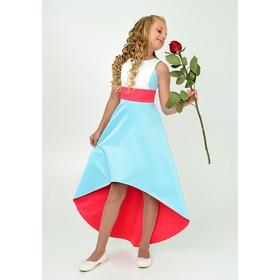 Платье нарядное  детское, рост 164 см, цвет тиффани 2Н42-2