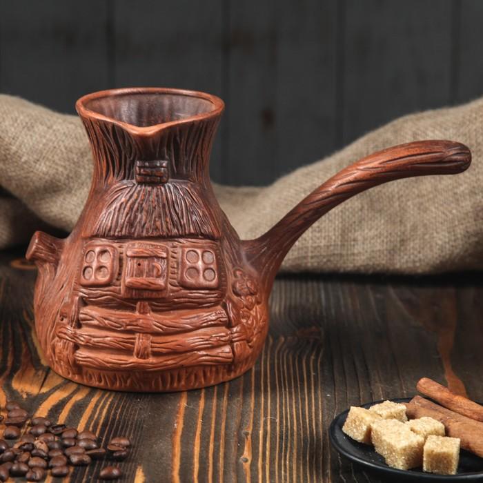 """Турка для кофе 1 л """"Пенёк"""" лепка"""