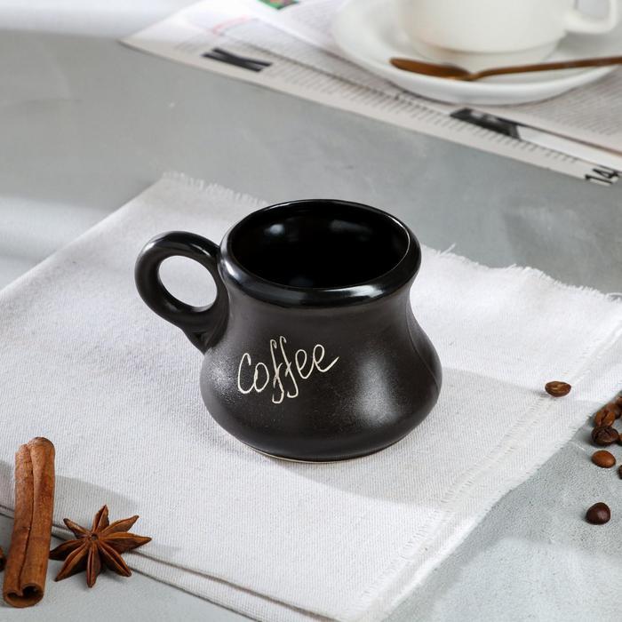 """Чашка """"Coffee"""", чёрная, 0.35 л - фото 884940"""