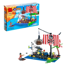 Конструктор «Пиратский плот», 238 деталей