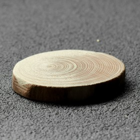 """Спил дерева """"Еловый"""", круглый, d=3-4 см, h=5 мм"""
