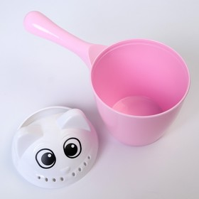Ковш для купания детский «Котофей», 1 литр, цвет розовый