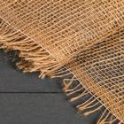 Материал джутовый, 1,1 × 8 м, плотность 150 г/м², плетение 22/20