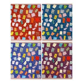 """Тетрадь 48 листов клетка """"Паутина идей"""", обложка мелованный картон, матовая ламинация, выборочный лак, тиснение фольгой"""