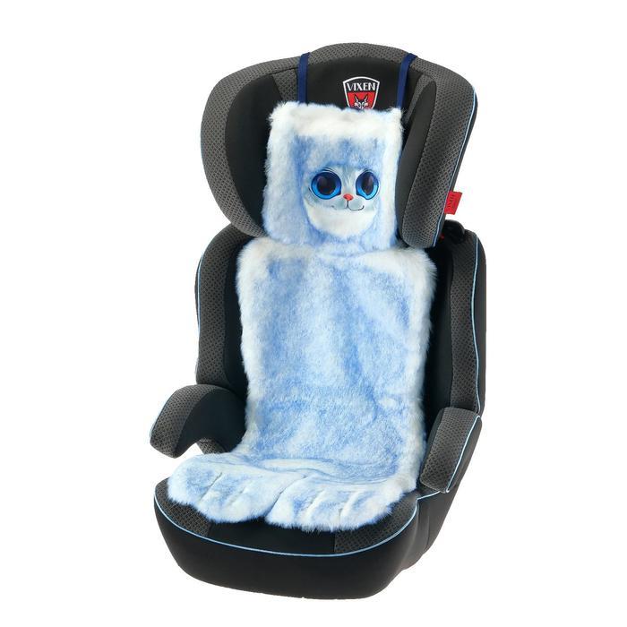 Накидка «АВТОНЯША» для детского автокресла, Кошечка, голубая