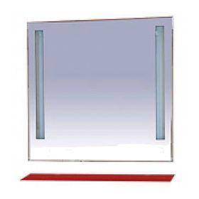 """Зеркало Misty """"Лика 90"""", с красной полочкой, с подсветкой"""