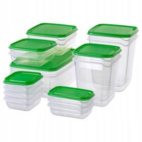 Набор контейнеров, 17 шт, цвет зеленый ПРУТА