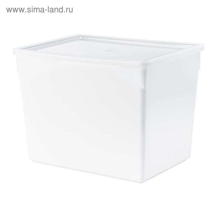 Контейнер с крышкой для сухих продуктов, белый ТИЛЛЬСЛУТА 10 л