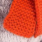 Мягкая игрушка «Басик», в вязаной шапке и шарфе, 25 см - фото 105612985