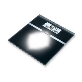 Весы напольные Beurer BG 21, диагностические, до 180 кг, 2хCR2032, стекло, чёрные