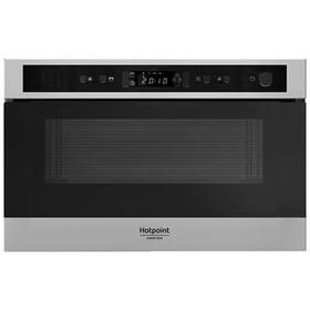 Встраиваемая микроволновая печь Hotpoint-Ariston MN 513 IX HA, 22 л, черный/серебристый