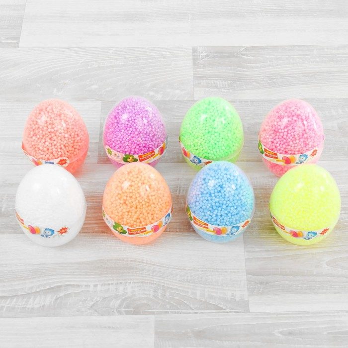 """Шариковый пластилин """"Фиксики"""" с блёстками в яйце, 8 г, цвета МИКС"""
