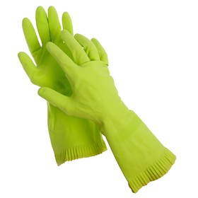 Latex gloves with internal cotton spraying, size M, pair