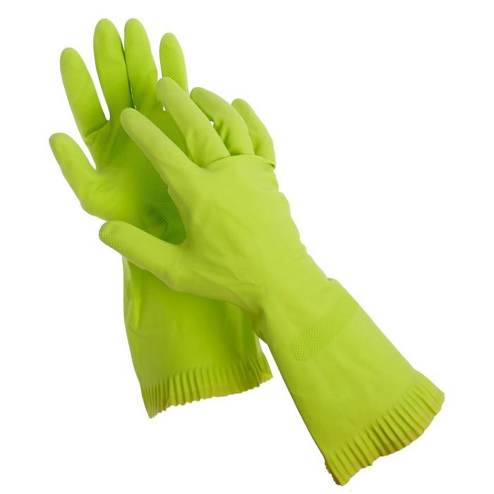 Перчатки латексные с внутренним х/б напылением, размер L, пара