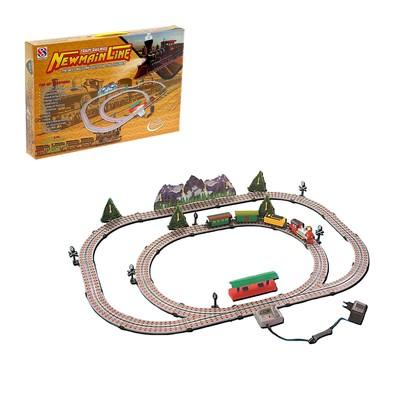 Железная дорога «Дальнее путешествие», работает от сети, протяжённость пути 5,06 м