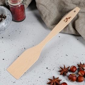 """Лопатка деревянная """"Оленёнок"""", 28 см, массив бука"""