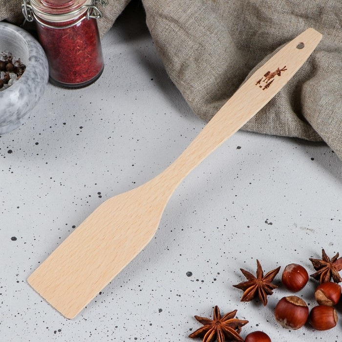 """Лопатка деревянная """"Новогодняя"""", 28 см"""