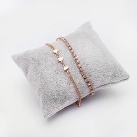 Подушка для украшений 8*8*3,5, цвет серый