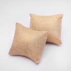 Подушка для украшений 8*8*3,5 см, цвет бежевый