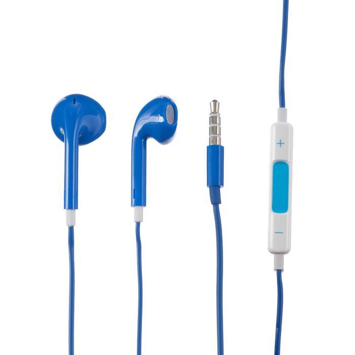 Наушники LuazON, вкладыши, микрофон, синие