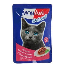 Влажный корм MonAmi для кошек, телятина, пауч, 85 г Ош