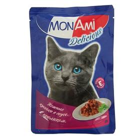 Влажный корм MonAmi для кошек, кролик, пауч, 85 г Ош