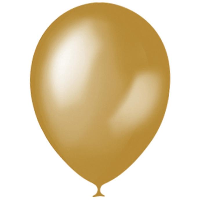 """Шар латексный 14"""", металлик, набор 50 шт., цвет золотой - фото 308467917"""