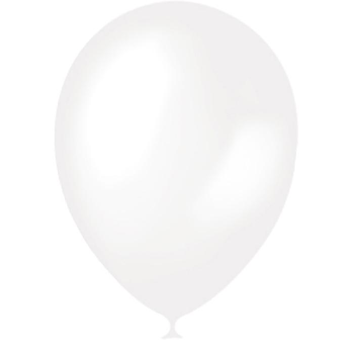 """Шар латексный 14"""", перламутр, набор 50 шт., цвет белый - фото 308469136"""