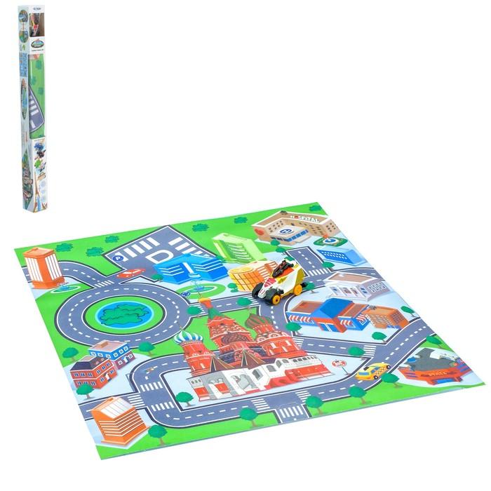 Набор игровой «Город», с игровым ковриком и машиной