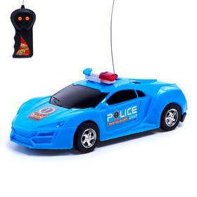 Машина радиоуправляемая «Полиция», работает от батареек, световые эффекты, цвета МИКС Ош