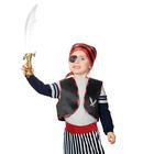 "Набор пирата ""Карамба"", жилет, бандана, сабля, наглазник, клипса, рост 116-128 см, 6-8 лет"