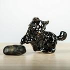 """Фигура садовая """"Собака на траве"""" чёрный"""