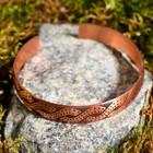 """Bracelet """"Twist"""" plate, narrow, copper"""