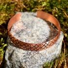 """Bracelet """"Slavic"""" plate, narrow, copper"""