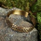 "Bracelet ""Slavic"" plate, narrow, brass"
