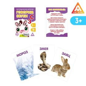 Обучающие карточки логопедические 'Говорим буквы С и З' Ош