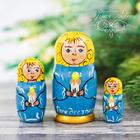 """Матрешка 3 кукольная """"Ангел со свечкой"""" 11см"""